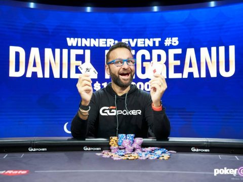Daniel Negreanu after winning Event 5 of the Poker Masters on Sunday, Sept. 12, 2021, at the Po ...