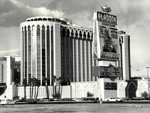 The Aladdin Hotel and Casino, as shown on Jan. 5, 1993, in Las Vegas. (Review-Journal file)