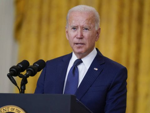 President Joe Biden speaks about the bombings at the Kabul airport that killed at least 12 U.S. ...