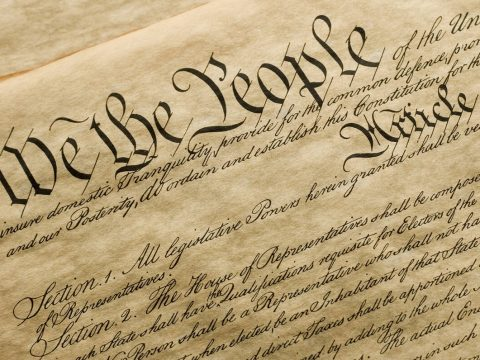 A copy of the cover of the U.S. Constitution. (Getty Images)