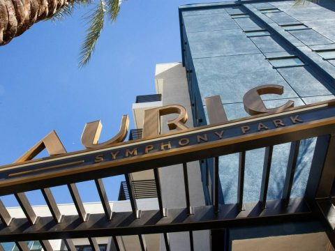 Auric Symphony Park, the first luxury multifamily residential community at Symphony Park, befor ...
